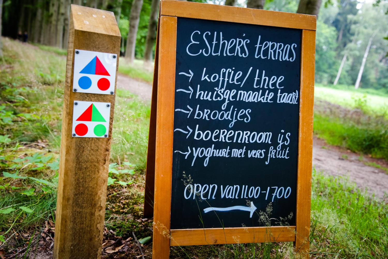 Esthers terras en MTB route Lochem, Gorssel