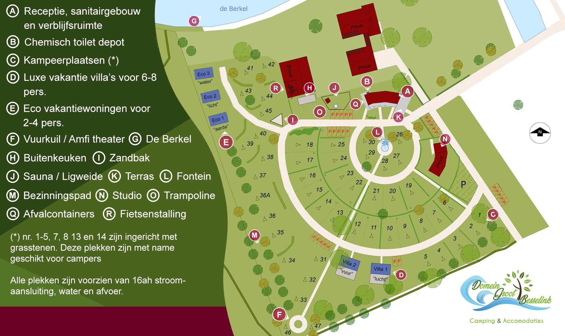 plattegrond voor site
